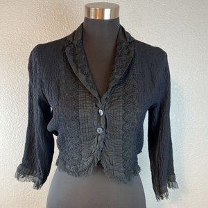 Ghost London Cropped Jacket S Small Black Lace